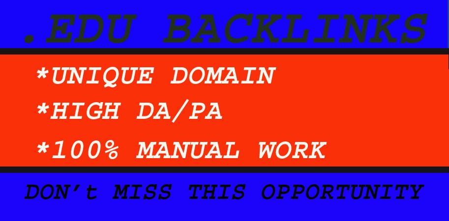 I will do 10+ Edu Gov High DA SEO Backlinks Link building