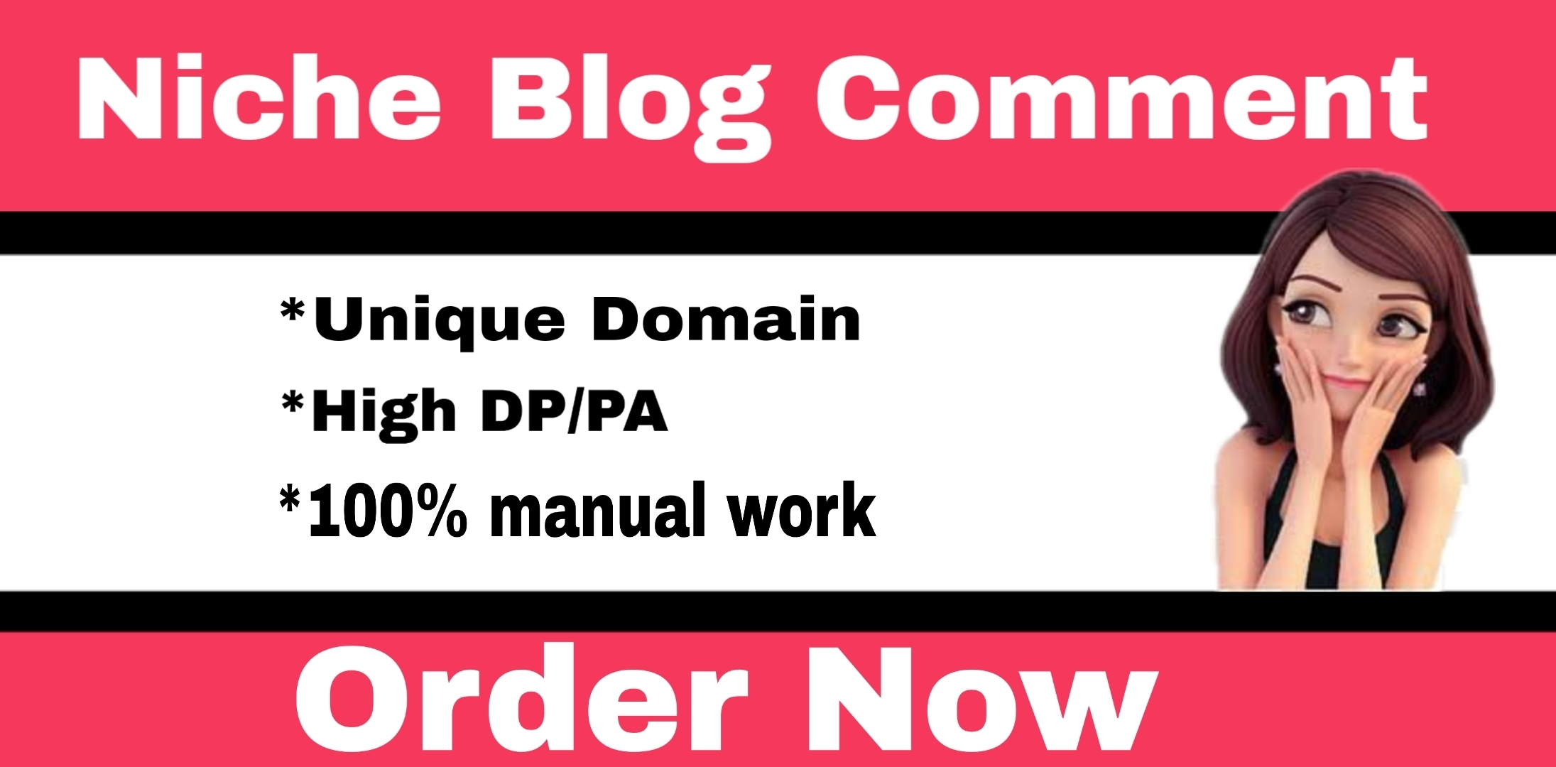I will Do 60 High DA Niche Relevant Blog Comments Back links