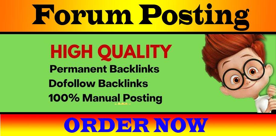 Provide 20+ forum posting backlinks on high DA PA