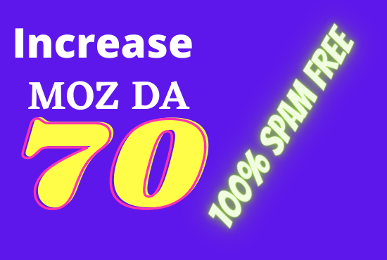i will increase Domain authority moz da 60+ within 20 days