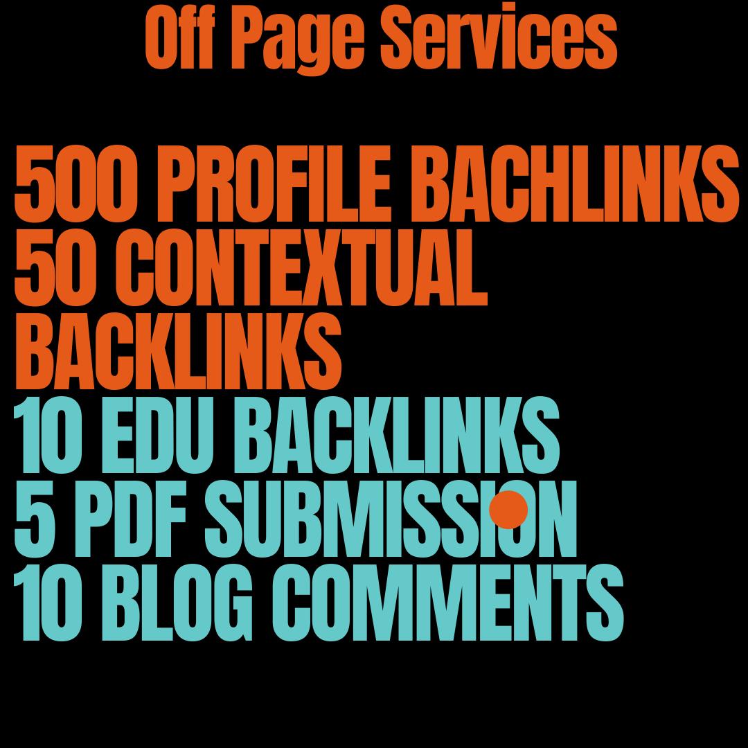 I Will Do 500 Profile Backlinks, 50 Contextual Backlinks, 10 EDU Backlinks 5 PDF Submission