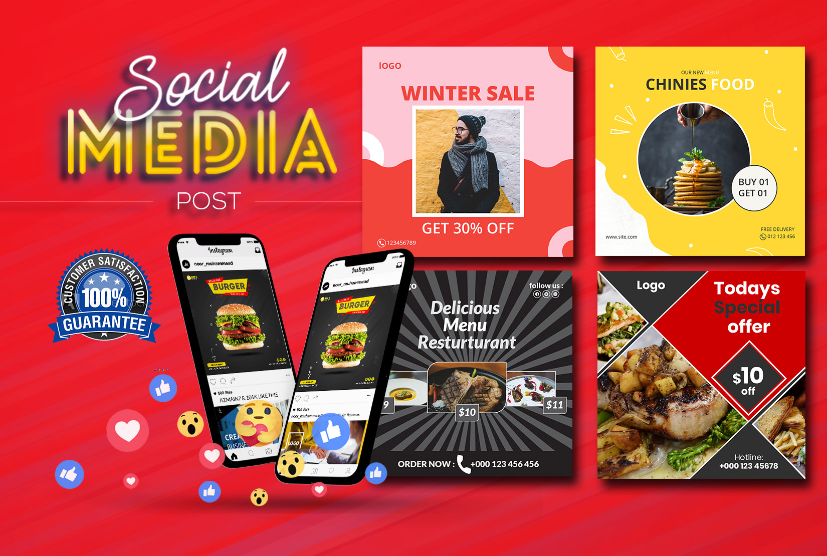 I will design attractive social media posts by canva