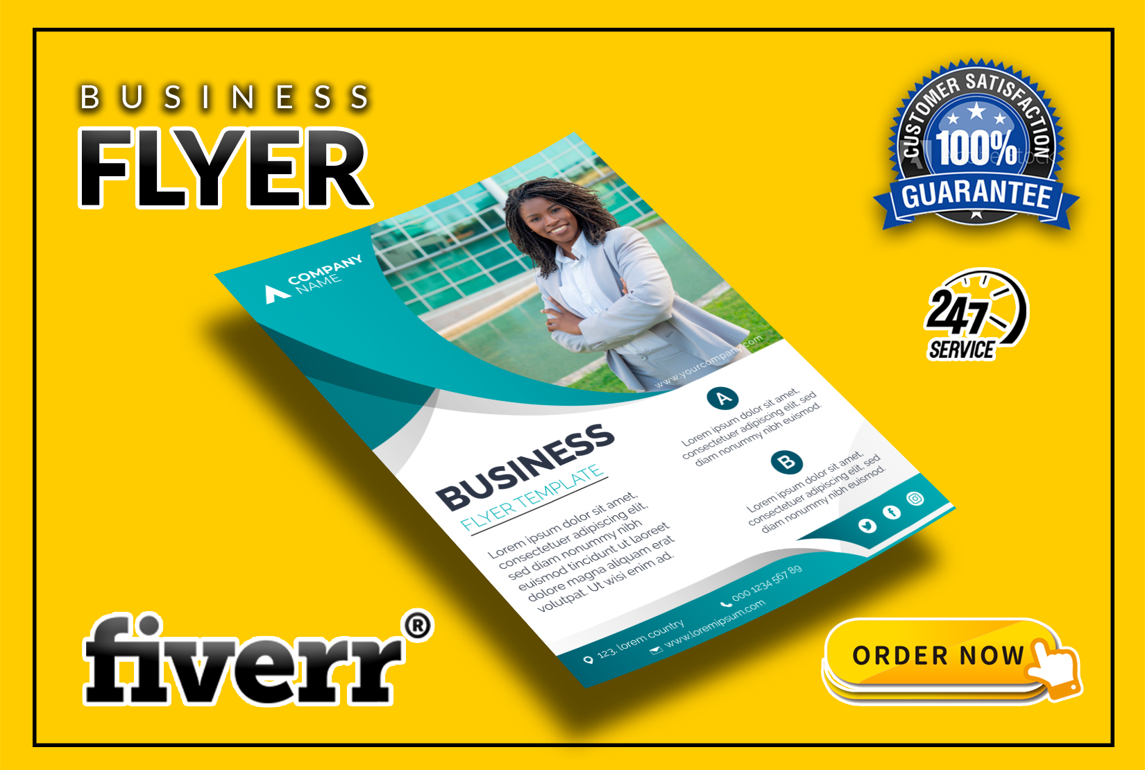 I will design professional flyer, Poster for your business within 6 hour