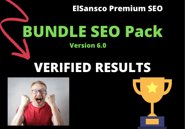 Premium Bundle SEO Package 2020. Ranking Improvements,  Tracking and Verified Results