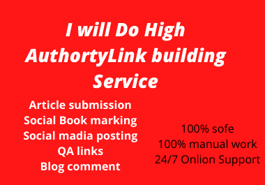 I will do high authority Dofollow Backlink Link building Service