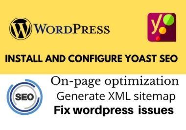 I will do wordpress yoast SEO install setup and optimization