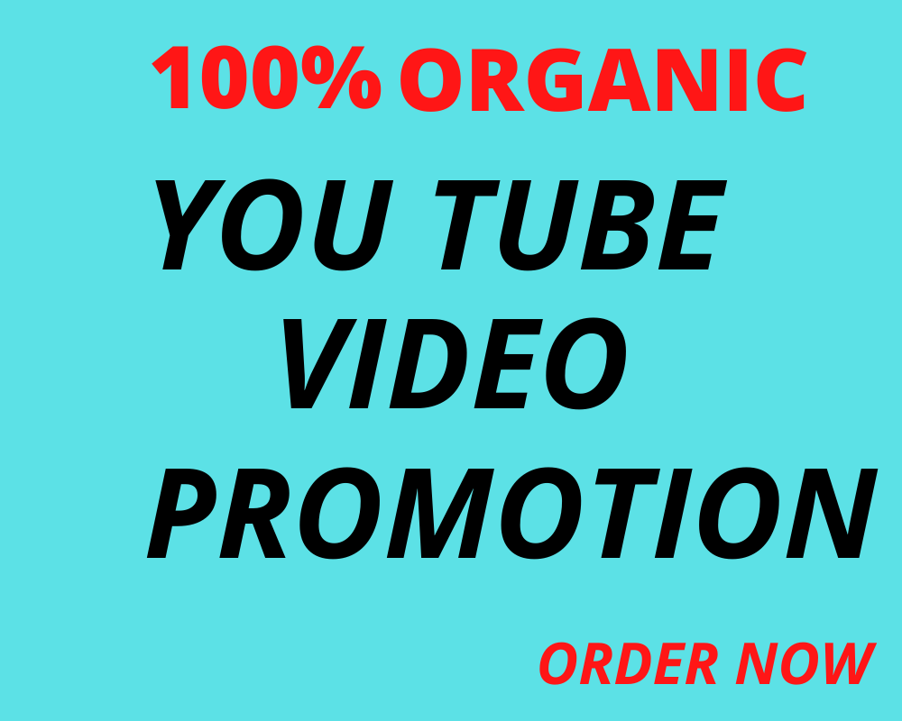 I will do firstly YouTube marketing, organic video promotion & video marketing
