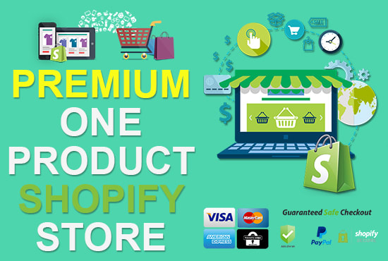I will launch premium One Product Shopify Store