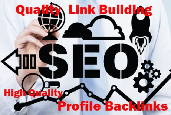 I will 50 SEO profile backlinks white hat manual links building