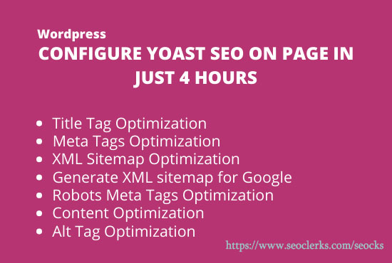 WordPress configure yoast SEO on page in just 4 hours
