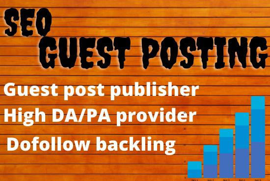 Publish guest post High DA/PA on HomePage