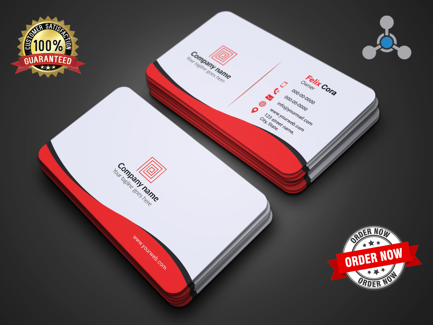 I will provide professional modern business card design services