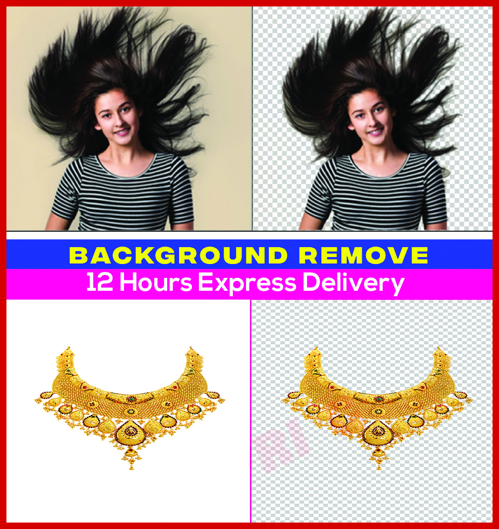 I will do background removal professionally