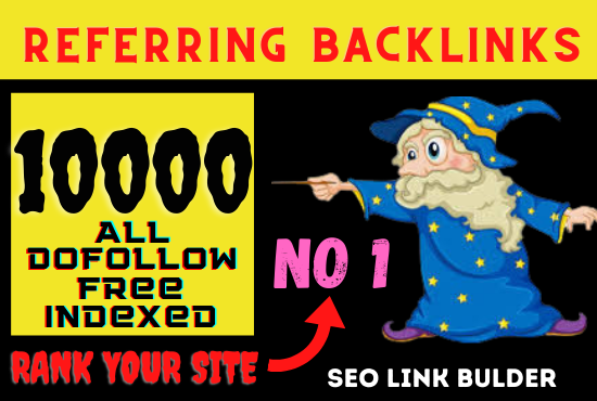 I will provide 1000 plus high quality referral backlinks