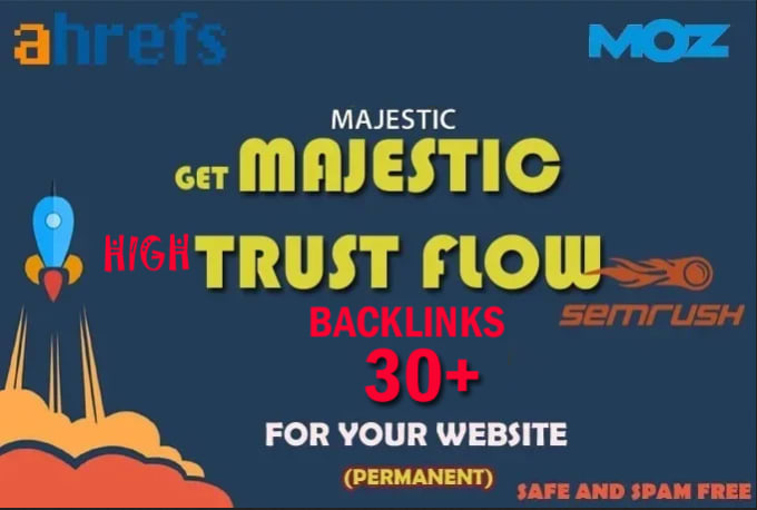 i will increase majestic trust flow 30 plus
