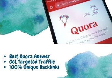 High Quality 12 Quora answer post with backlink