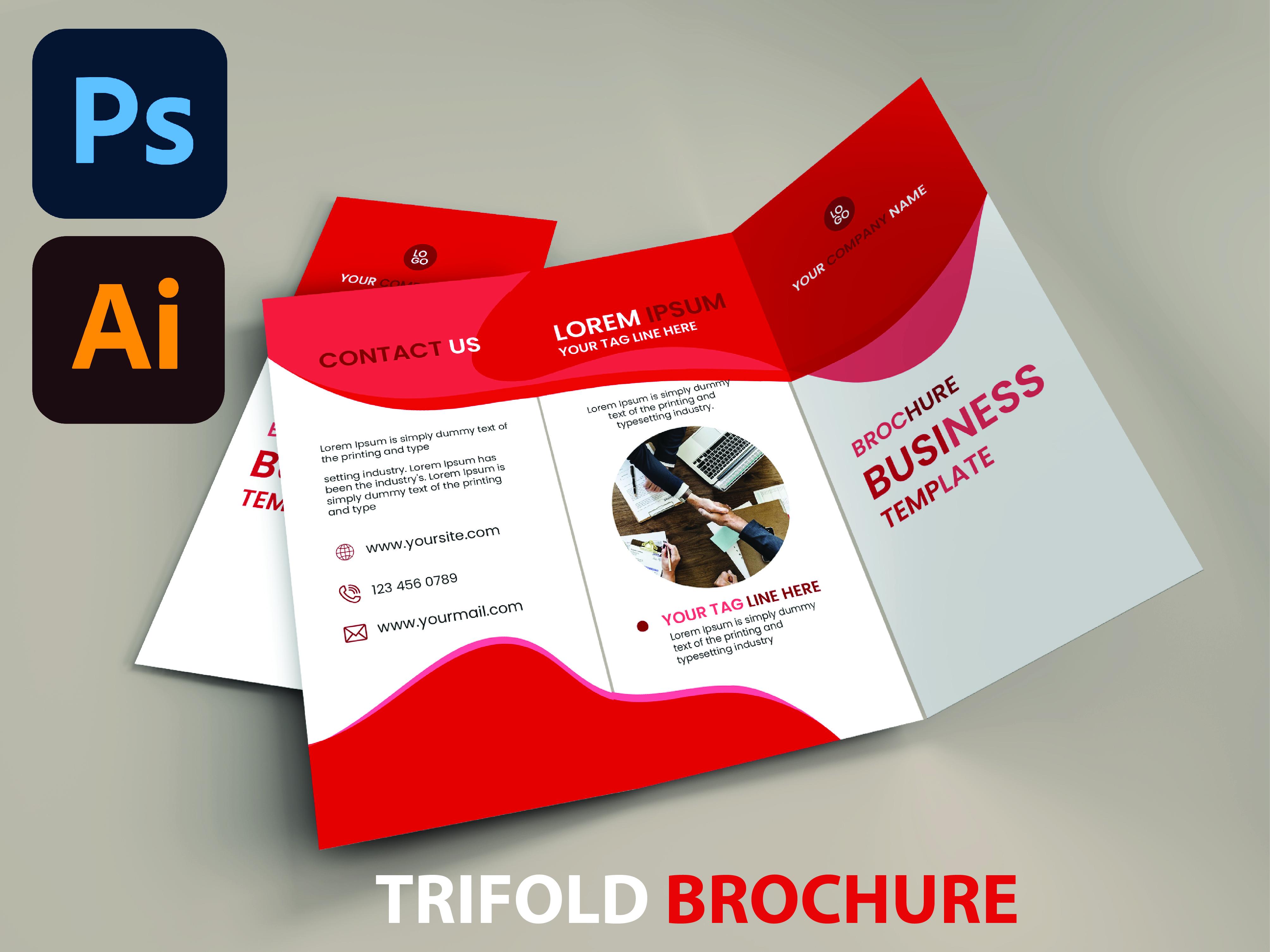 I will design solemn bi fold,  tri fold brochure,  leflat in 24 hours