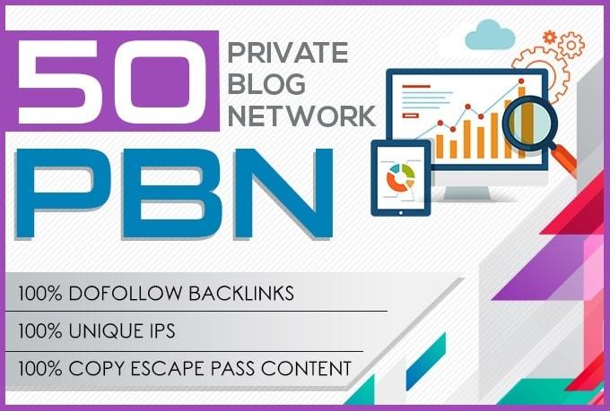 50 high metrics pbn posts contextual backlinks