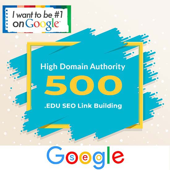Build 500 high authority dofollow SEO backlinks edu link building