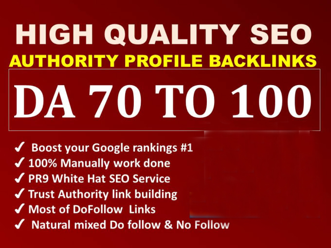 Provide pr9 high authority profile backlinks seo