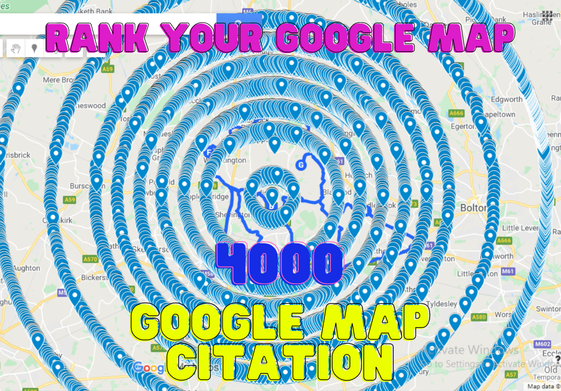 i will create 4000+ google map citation for local seo