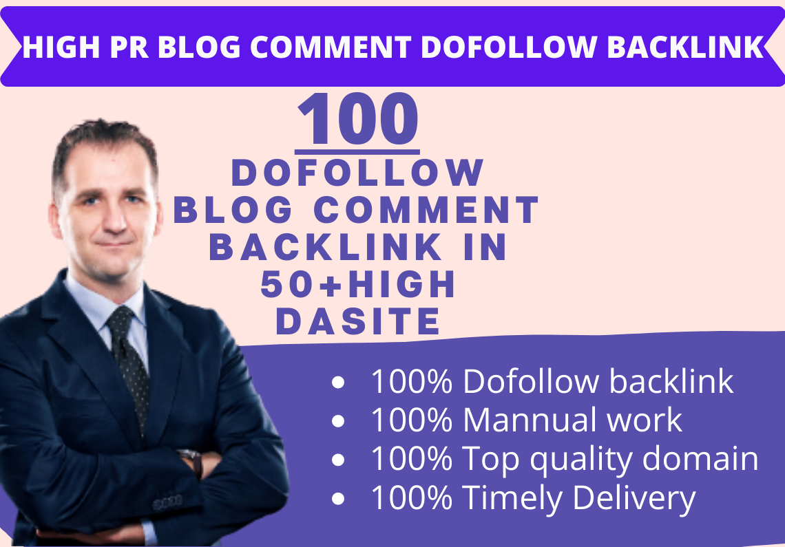 Make 100 High Quality DoFollow Blog Comment Backlink