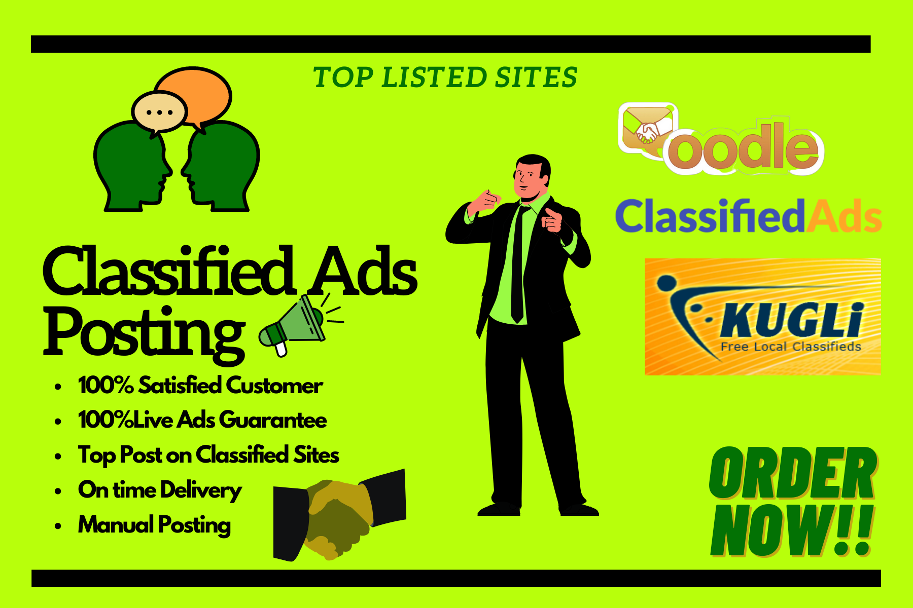 Get 50 High Quality Manual Ad post on high DA PA Sites