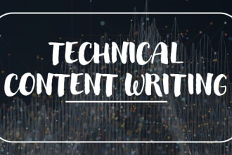 I will do awesome technical writing and research reports