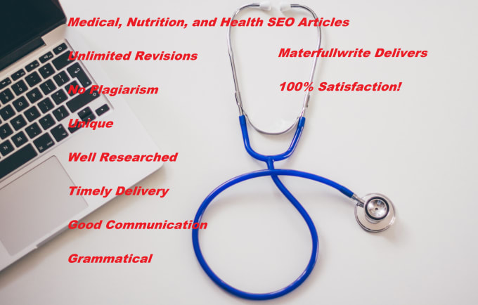 I will research and write medical and health articles