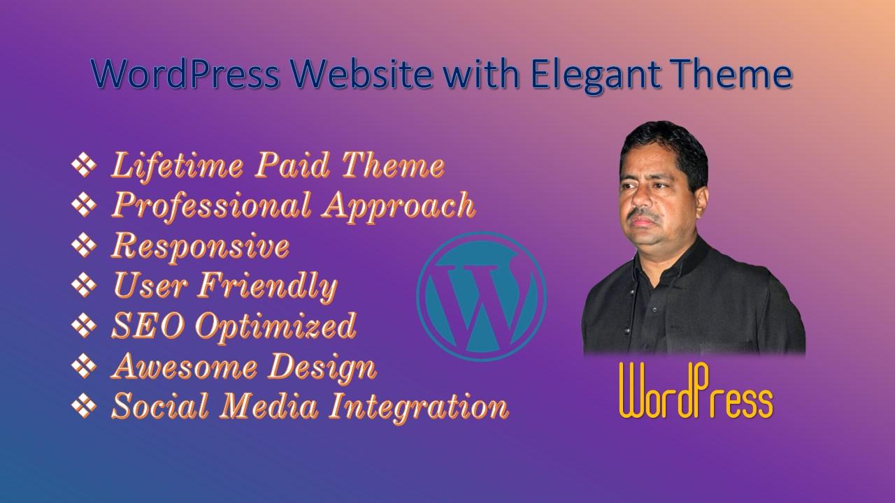 I will do WordPress Website Designing