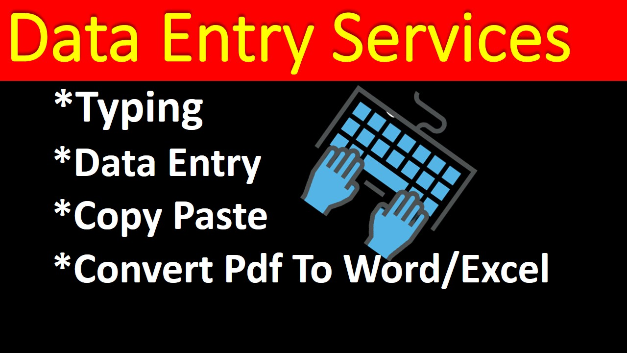 I will do any kind of data entry, typing,  copy paste,  convert image to word or excel