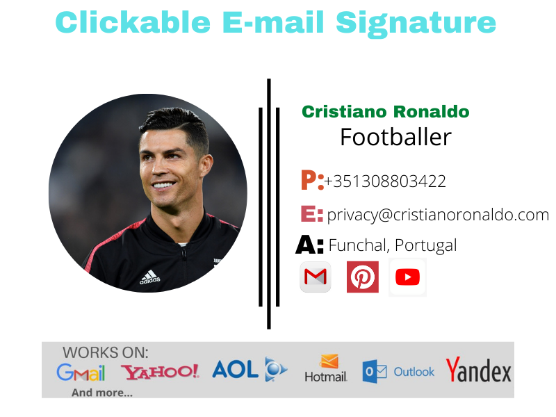 I will provide Clickable Professional HTML E-mail Signature For You