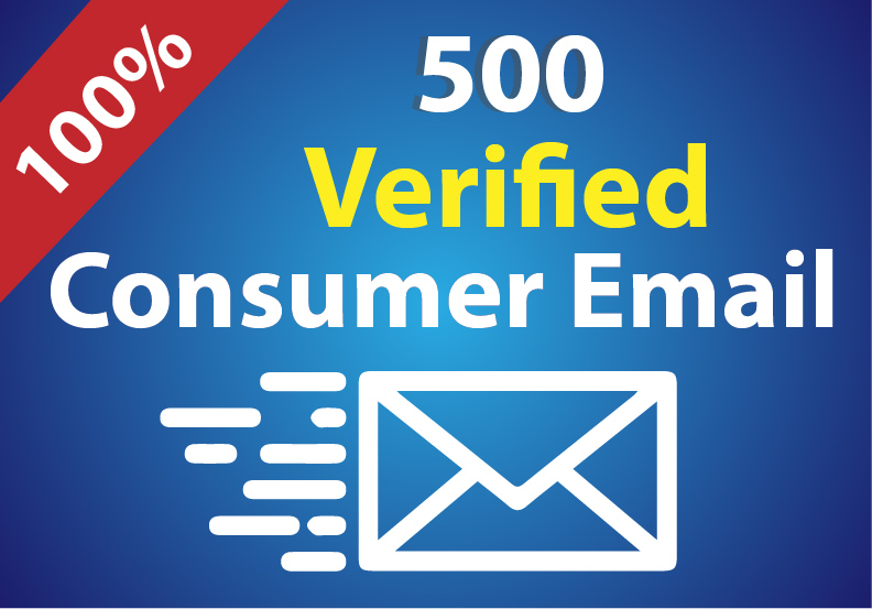 I will provide verified consumer email list for you