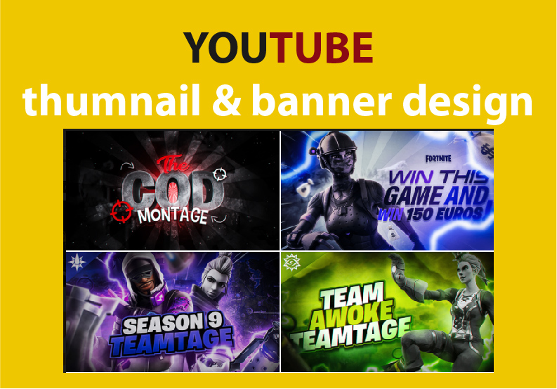 I will create youtube banner and thumbnail design