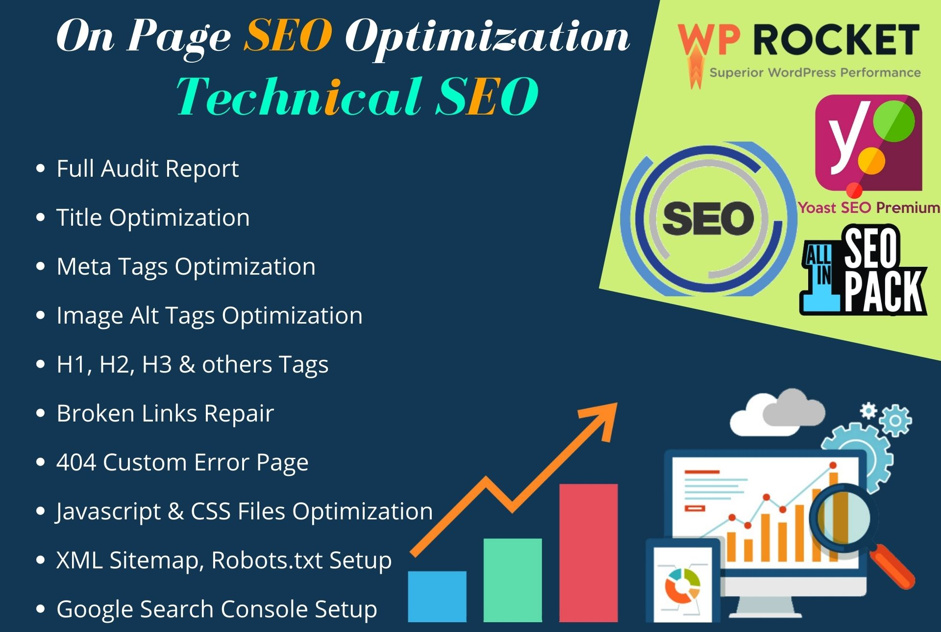 do onpage SEO and fix technical issues of website