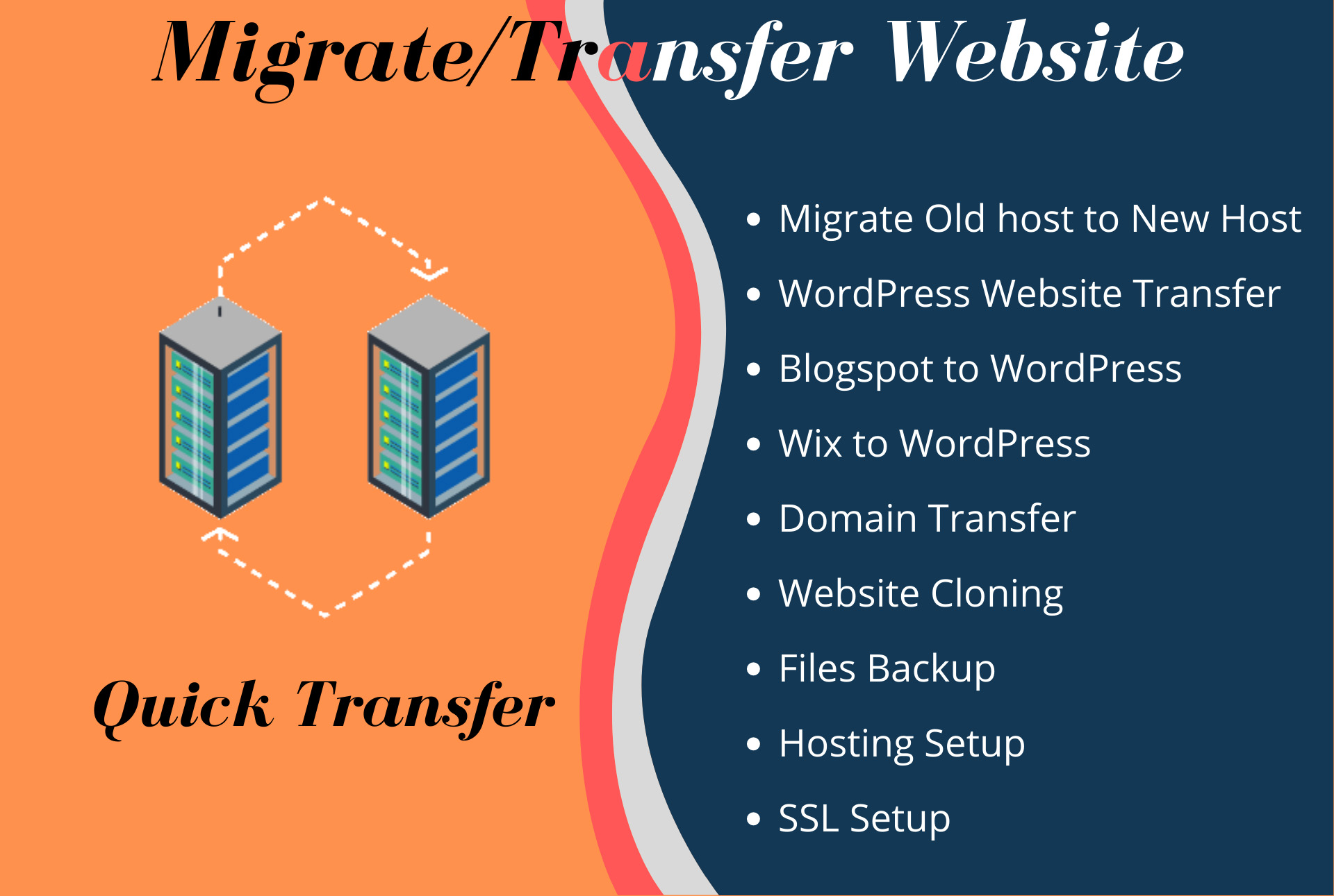transfer or migrate wordpress website from one hosting to another hosting