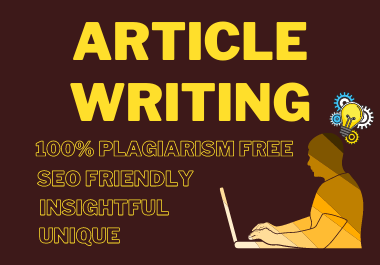 500 Words SEO Friendly Article Writing or blog post on Any Topic