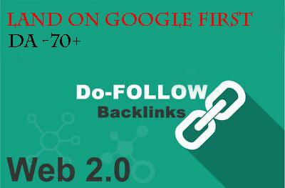 I will create 20 high authority Do-follow SEO backlinks.
