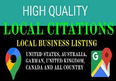 60 High DA local citations and local business listing