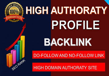 I will do high DA 50 Profile backlinks on authority website