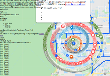 I will create 3000 Google map pins citations