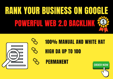 30 Powerful high DA web 2.0 backlink