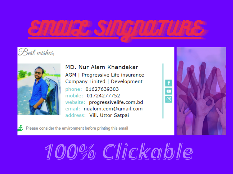 I will create your html email signature.