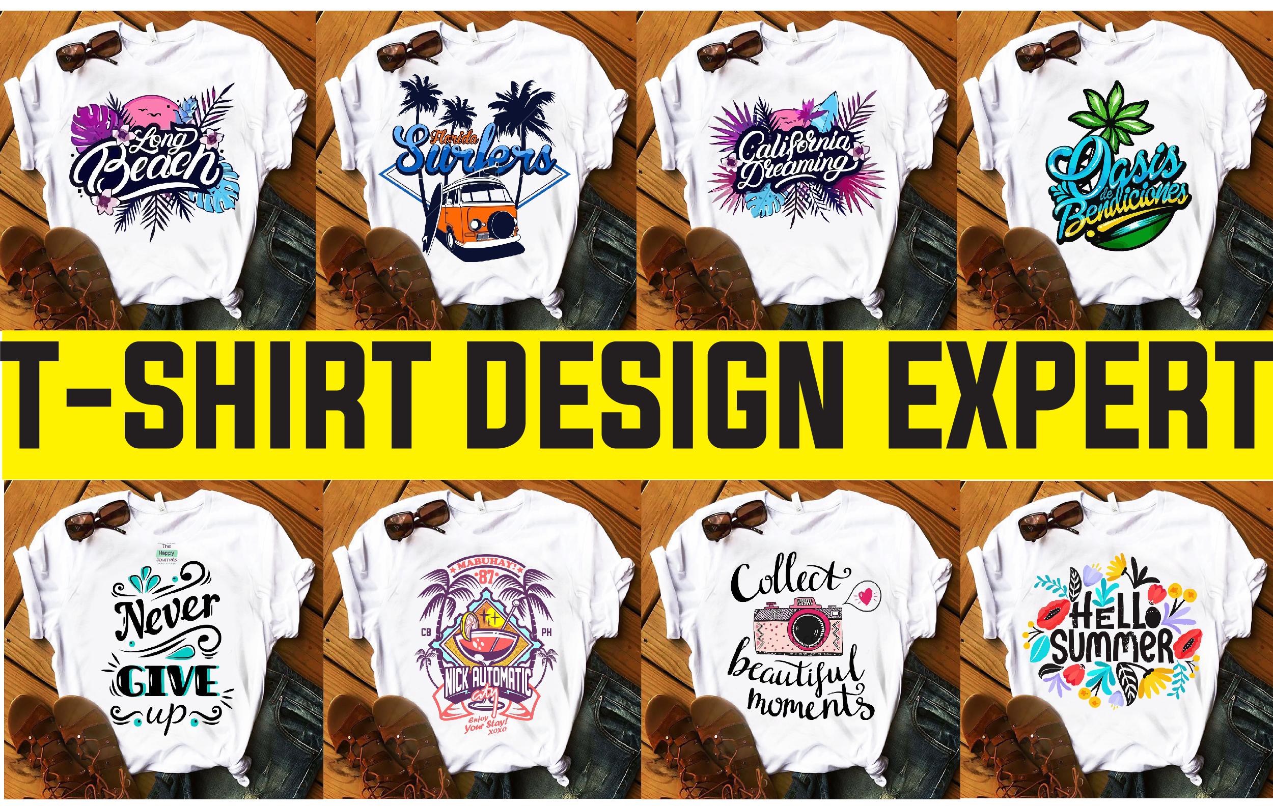 I will create bulk t shirt design for teespring, merch, redbubble