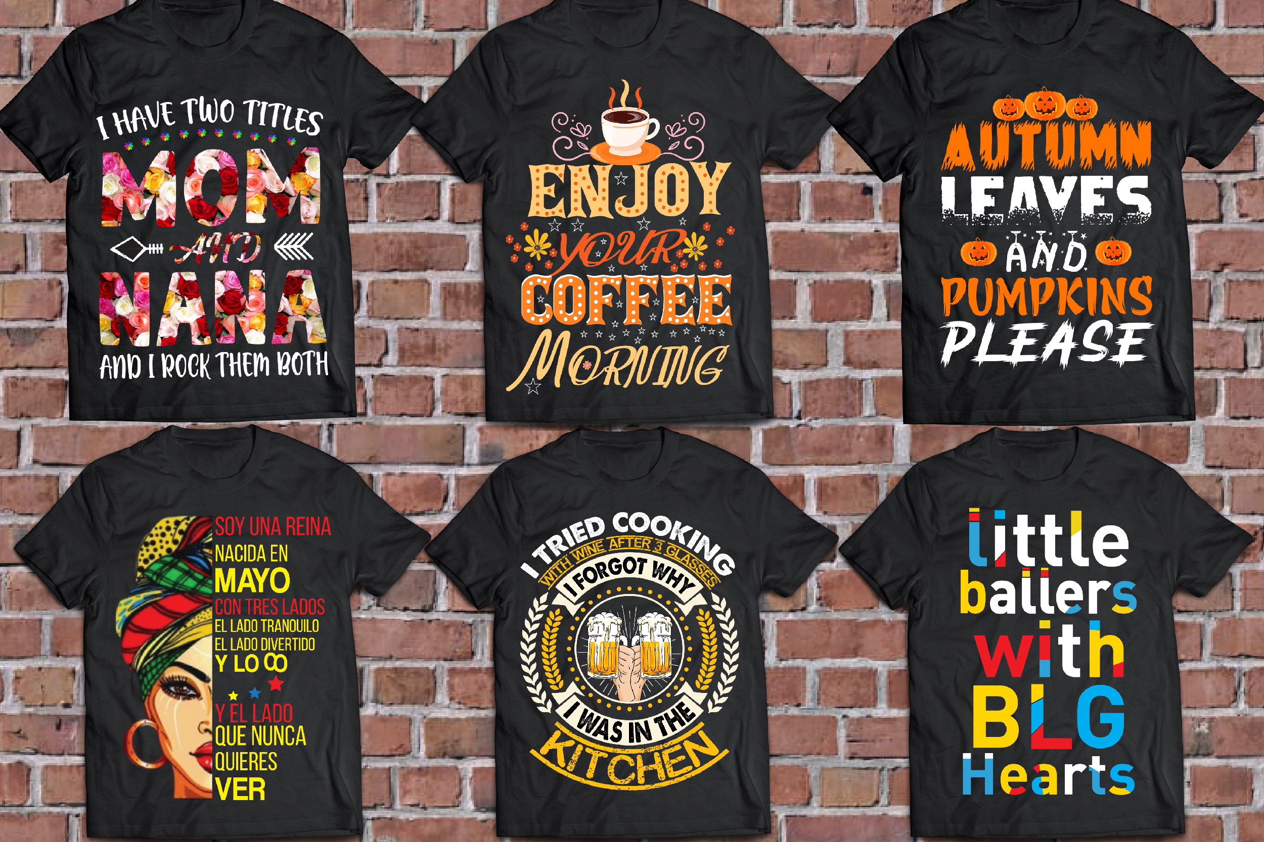 I will custom graphics typography bulk t shirt design for amazon
