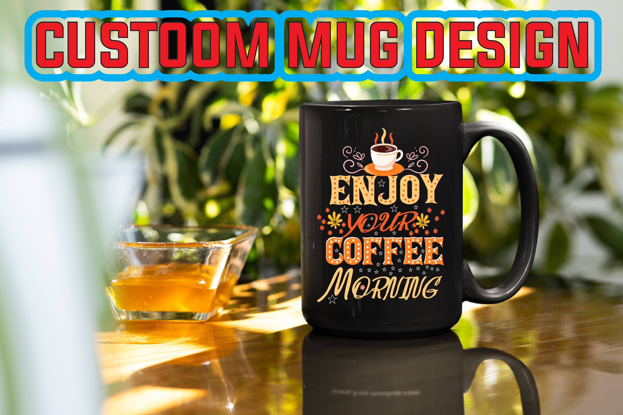 I will create cool coffee mug design 5 hours