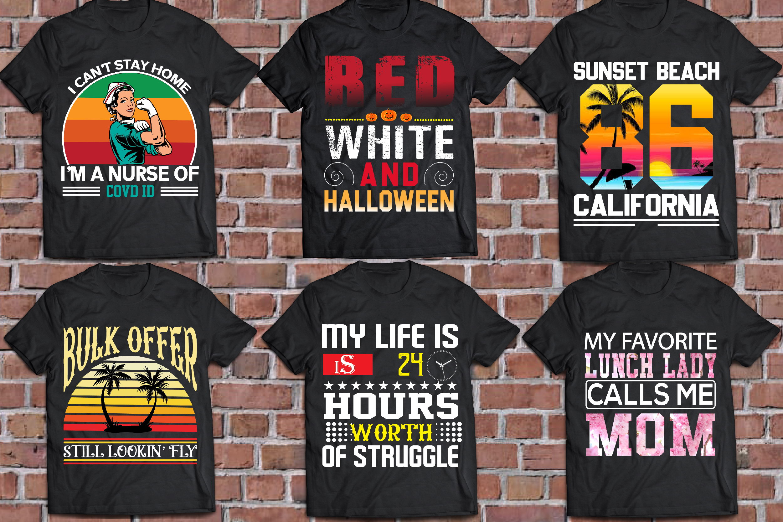 I will custom graphics typography bulk t shirt design for amazon