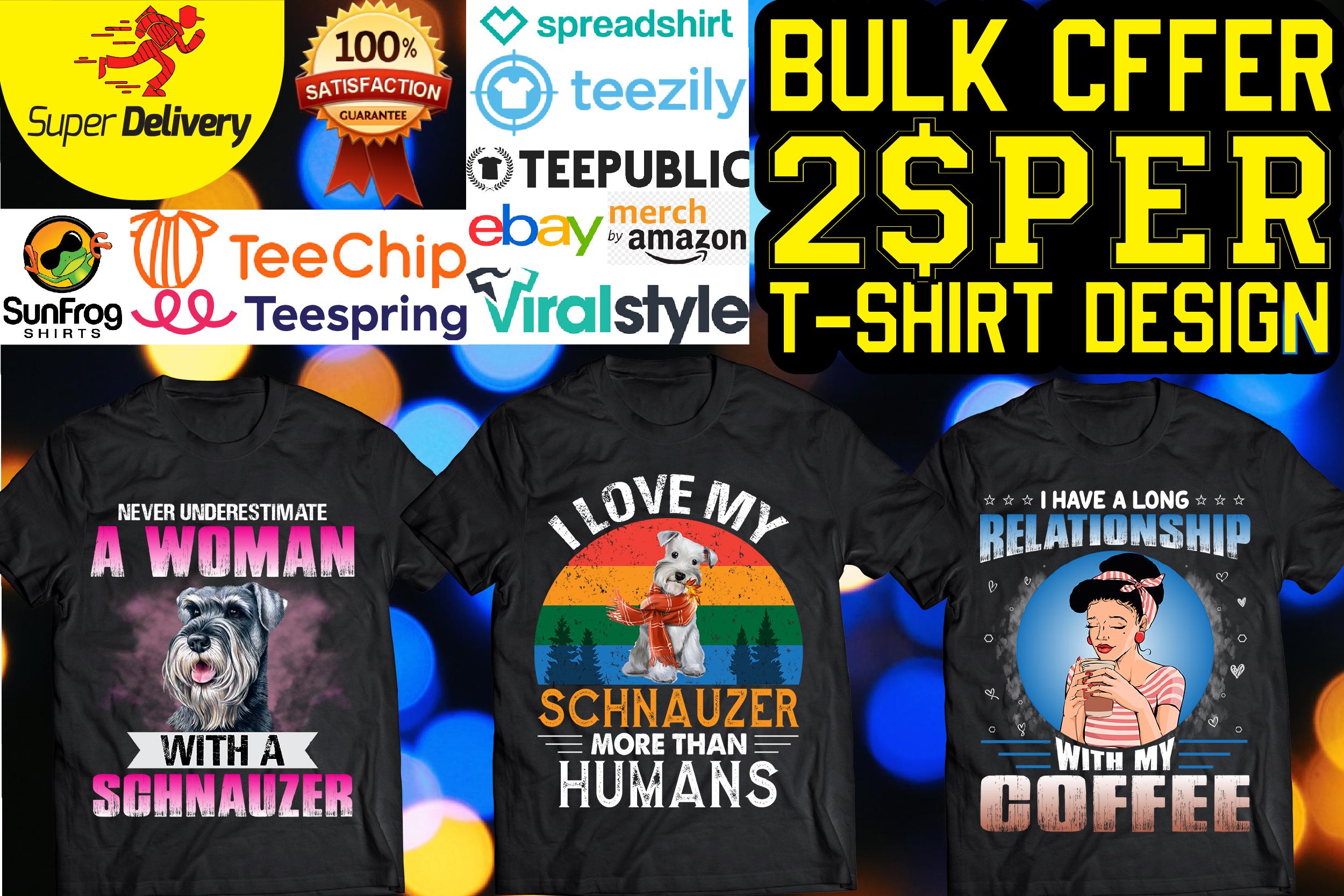I will do trendy custom t shirt design and bulk t shirt designs