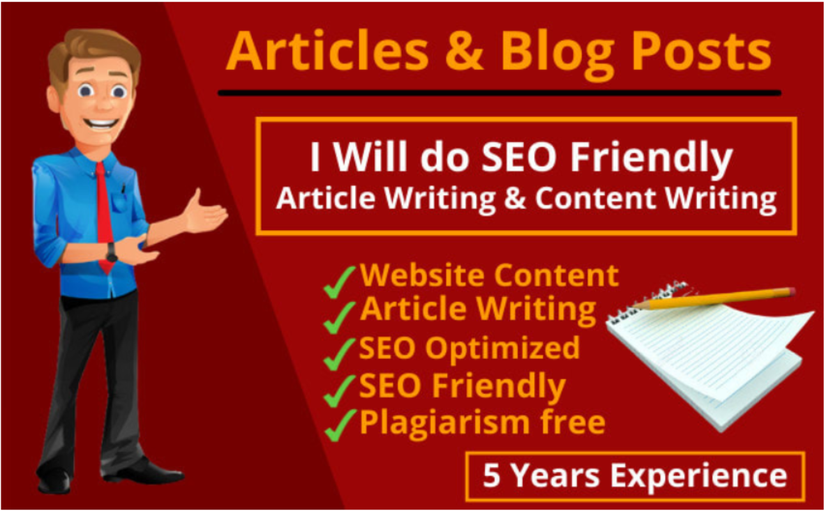 I will write unique SEO friendly website content,  articles and blog post