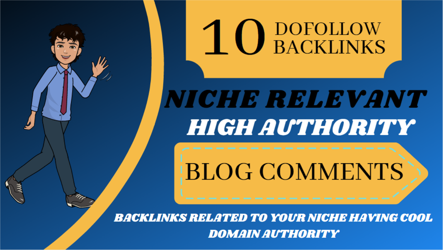I will 10 niche relevant manual dofollow blog comments backlinks